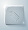 Glass square icon label vector image