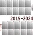 calendar 2015 2024 380x400 vector image vector image