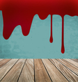 Happy Halloween Blood dripping on brick wall vector image vector image