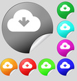 Download from cloud icon sign Set of eight vector image