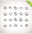 Weather Thin Line Icons for web and mobile applica vector image vector image