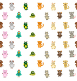 Seamless pattern chinese zodiac signs vector image