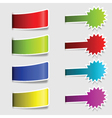 Collection of colorful labels vector image