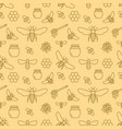 beekeeping seamless pattern apiculture vector image