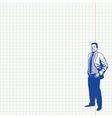 Businessman on grid paper vector image