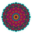 indian floral ethnic mandala ornament vector image