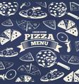 vintage pizza menu cover design vector image