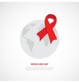 World Aids Day HIV awareness concept vector image