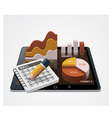 chart and table editor icon vector image