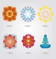 Mini Mandalas esoteric set vector image