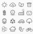 ecology symbol line icon set vector image vector image