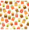 seamless background with gifts vector image vector image