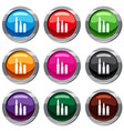 bullets set 9 collection vector image vector image