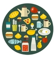 Food round banner vector image