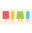 Cute Geometric Popsicles vector image
