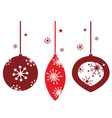 christmas decoration for retro party vector image