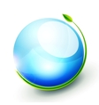 Green sphere concept vector image vector image