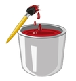 Bank with paint vector image