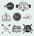 Baseball All Star Labels vector image vector image