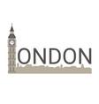 banner of london city banner of london city vector image