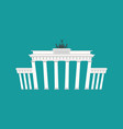 brandenburg gate landmark germany historic vector image