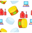 Face care pattern cartoon style vector image