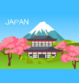 japan touristic concept with national symbols vector image
