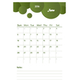 june notes vector image