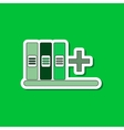 paper sticker on stylish background shelf folder vector image