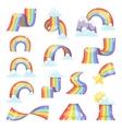 Rainbow set vector image