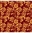 Yellow colored floral seamless pattern vector image