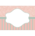 stripes and roses on pink vector image vector image