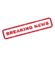 Breaking News Text Rubber Stamp vector image