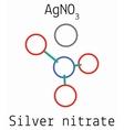 Silver nitrate AgNO3 molecule vector image