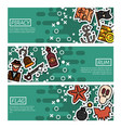set of horizontal banners about piracy vector image