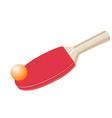 table tennis bat vector image vector image