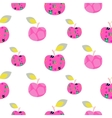Apple pink pattern Seamless ornament vector image