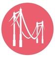 bridge icon vector image