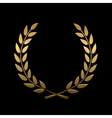 gold award laurel wreath vector image