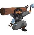 harsh medieval carpenter vector image