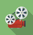 Icon of Film Projector Cinema Projector Flat style vector image