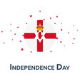 independence day of northern ireland patriotic vector image