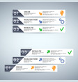 infographics design with numbered bars vector image