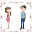 love at first sight cartoon vector image