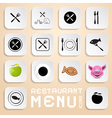 Restaurant Menu Icons - Design Elements vector image