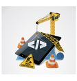 website construction icon vector image