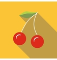 Couple of cherries icon flat style vector image