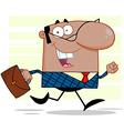 Teacher running to work vector image vector image