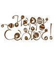 Easter logo design vector image