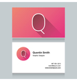 business card letter Q vector image